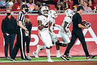 LOS ANGELES, CA - SEPTEMBER 11: Kendall Williamson during a game between University of Southern California and Stanford Football at Los Angeles Memorial Coliseum on September 11, 2021 in Los Angeles, California.