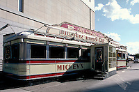 Mickey's Diner, a familiar sight in downtown St.Paul, Minnesota.  Americana, nostalgia, dining, restaurants, architecture. Minnesota.