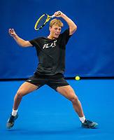 Amstelveen, Netherlands, 18  December, 2020, National Tennis Center, NTC, NK Indoor, National  Indoor Tennis Championships,   :  Fons van Sambeek (NED) <br /> Photo: Henk Koster/tennisimages.com