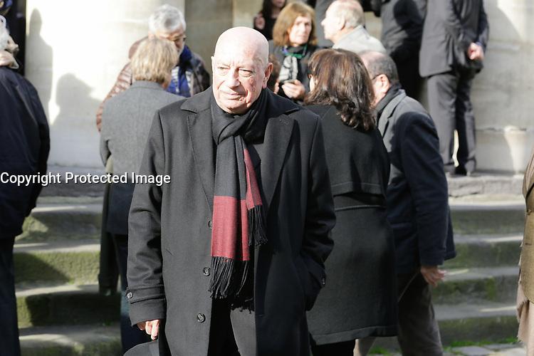 PARIS , EGLISE SAINT PIERRE DU GROS CAILLOU LE 14 / 03 / 2017<br /> OBSEQUES DE PIERRE BOUTEILLER .<br /> HERVE BOURGE