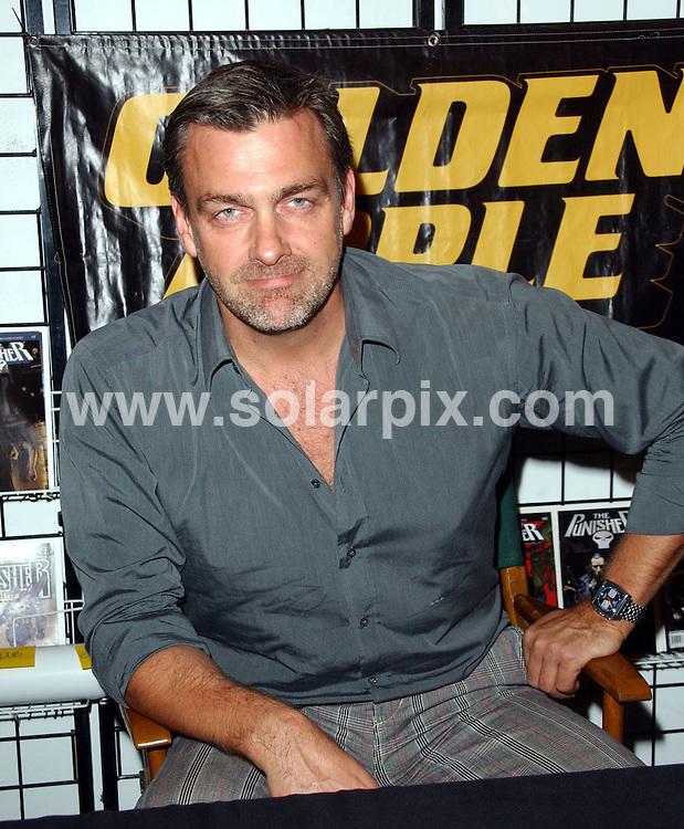 """**ALL ROUND PICTURES FROM SOLARPIX.COM**.**SYNDICATION RIGHTS FOR UK, SPAIN, PORTUGAL, AUSTRALIA, S.AFRICA & DUBAI (U.A.E) ONLY**.The British film and TV actor Ray Stevenson Instore Appearance Supporting """"Punisher: War Zone"""" from the Golden Apple Comics in Los Angeles, California in the USA...JOB REF:8050-PHZ/Albert L.Ortega DATE:01-12-08.**MUST CREDIT SOLARPIX.COM OR DOUBLE FEE WILL BE CHARGED* *UNDER NO CIRCUMSTANCES IS THIS IMAGE TO BE REPRODUCED FOR ANY ONLINE EDITION WITHOUT PRIOR PERMISSION*"""