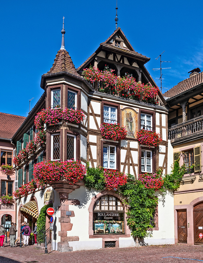 Boulangerie in the Alsatian town of Kaysersberg