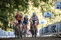 Front group with Amy Pieters (NED/Boels-Dolmans) and German National Champion Lisa Brennauer (GER/Ceratizit-WNT) up the Kemmelberg <br /> <br /> 9th Gent-Wevelgem in Flanders Fields 2020<br /> Elite Womens Race (1.WWT)<br /> <br /> One Day Race from Ypres (Ieper) to Wevelgem 141km<br /> <br /> ©kramon
