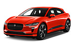 2019 Jaguar I Pace S 5 Door SUV angular front stock photos of front three quarter view