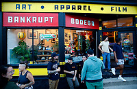 """""""Proper Nouns', a photography show by Justin Boyd, takes place at Bankrupt Bodega in the Bloomfield neighborhood on Friday September 3, 2021 in Pittsburgh, Pennsylvania. (Photo by Jared Wickerham/Pittsburgh City Paper)"""