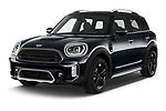 2021 MINI Countryman Cooper-Northwood 5 Door SUV Angular Front automotive stock photos of front three quarter view