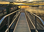 Sunset on the Hudson River at a marina in Ossining, NY