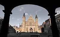 Nederland Den Haag -  maart 2021.  Het Binnenhof met de Ridderzaal.  Foto Berlinda van Dam / ANP / HH