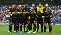 Football Soccer: UEFA Champions League -Group Stage- Group F Internazionale Milano vs  SK Slavia Praha, Giuseppe Meazza stadium, September 17, 2019.<br /> Inter's players pose for the pre match photograph prior to  the Uefa Champions League football match between Internazionale Milano and Slavia Praha at Giuseppe Meazza (San Siro) stadium, September 17, 2019.<br /> UPDATE IMAGES PRESS/Isabella Bonotto