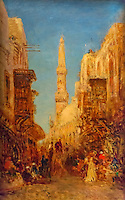ActiveMuseum_0000055.jpg / Street of the old Cairo- Felix Ziem - <br />06/06/2013  -  <br />Active Museum / Le Pictorium