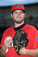 Frisco Rough Riders pitcher Alec Asher (15) poses for a photo before a game against the Springfield Cardinals on June 1, 2014 at Hammons Field in Springfield, Missouri.  Springfield defeated Frisco 3-2.  (Mike Janes/Four Seam Images)