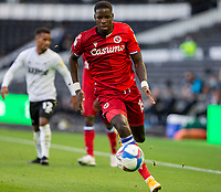 12th September 2020; Pride Park, Derby, East Midlands; English Championship Football, Derby County versus Reading; Lucas Santos Joao of Reading chasing down a ball at his feet