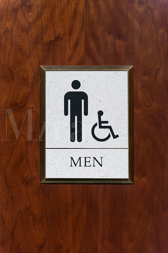 Mens room sign.