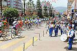 The peloton is feted by a local band during Stage 3 of the 2015 Presidential Tour of Turkey running 165.3km from Kemer to Elmali. 28th April 2015.<br /> Photo: Tour of Turkey/Mario Stiehl/www.newsfile.ie