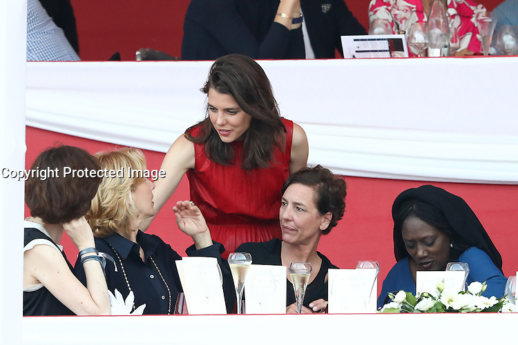 --- NO TABLOIDS NO SITE --- Monaco Princely Family attends the 'Grand Prix du Prince' at the Longines Global Champions Tour of Monaco. Charlotte Casiraghi.