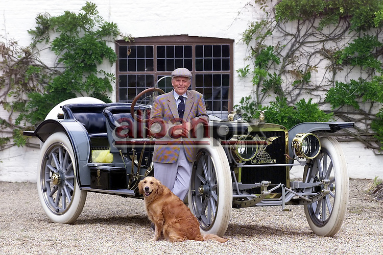 Robert Gathercole with his 1909 American 'Underslung' at his home in Old Buckenham,Norfolk.
