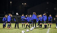 Club Brugge players pictured during the warm up before a female soccer game between FC Femina White Star Woluwe and Club Brugge YLA on the eleventh matchday of the 2020 - 2021 season of Belgian Scooore Womens Super League , Friday 22 January 2021  in Woluwe , Belgium . PHOTO SPORTPIX.BE | SPP | SEVIL OKTEM