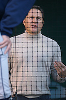Baseball Player Agent Scott Boras before a Los Angeles Angels baseball game during the 2007 MLB season at Angel Stadium, in Anaheim, California. (Larry Goren/Four Seam Images)