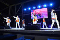 """MIRAMAR, FLORIDA - MAY 22: Tony Ortiz, Ralph 'Aby' Cruz, Louis 'K7' Sharpe and Angel """"Love"""" Vasquez of TKA performs live on stage during the 80 Reunion Freestyle Concert at The Miramar Amphitheater at Regional Park on May 22, 2021 in Miramar, Florida.    ( Photo by Johnny Louis / jlnphotography.com )"""
