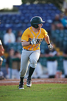 Siena Saints pinch hitter Phil Madonna (3) runs to first base during a game against the Pittsburgh Panthers on February 24, 2017 at Historic Dodgertown in Vero Beach, Florida.  Pittsburgh defeated Siena 8-2.  (Mike Janes/Four Seam Images)