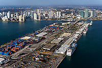 aerial photograph Dodge Island Port of Miami Biscayne Bay Florida