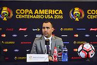 Foxborough, MA - Saturday June 18, 2016: Rafael Dudamel after a Copa America Centenario quarterfinal match between Argentina (ARG) and Venezuela (VEN)  at Gillette Stadium.