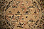 Jerusalem, a mosaic floor from the bath house in Lower Herodion, 1st century BC, on display at the Israel Museum