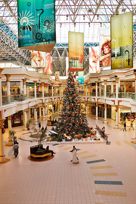 Dubai. United Arab Emirates.  Wafi Centre/Center Shopping Mall. With Christmas Tree..