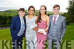 Attending the Killarney Community College, St. Brendan's and St. Bridget's School debs in the Ballyroe Heights hotel on Monday night. L to r: Jack Cooper (Killarney), Lauren Brick (Glenflesk), Ruth Courtney (Killarney) and Mark Cooper (Killarney).