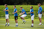 Dean Shiels, Fraser Aird, Lewis Macleod, tongue poking Arnold Peralta and Stevie Smith
