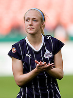 Becky Sauerbrunn. The Washington Freedom defeated the Saint Louis Athletica, 3-1.