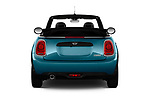 Straight rear view of 2019 MINI Convertible Cooper-Signature 2 Door Convertible Rear View  stock images