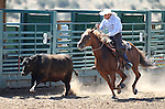 Dennis Lee competes in the ranch horse class slack event at the Minden Ranch Rodeo on Saturday, July 23, 2011, in Gardnerville, Nev. .Photo by Cathleen Allison