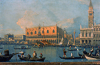 Italy: Venice. Painting of Palazzo Ducale by Canaletto.<br /> Galleria Uffizi. Reference only.