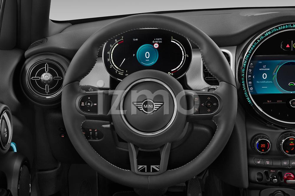 Car pictures of steering wheel view of a 2021 MINI MINI Cooper-Yours 5 Door Hatchback Steering Wheel