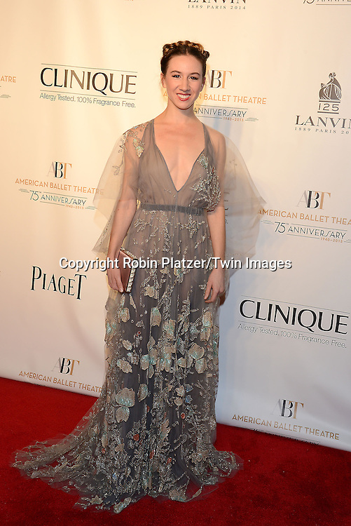 ballet dancer Isabella Boylston attends the Opening Night of American Ballet Theatre 2014 Fall Gala on October 22,2014 at the David Koch Theater at Lincoln Center in New York City. <br /> <br /> photo by Robin Platzer/Twin Images<br />  <br /> phone number 212-935-0770