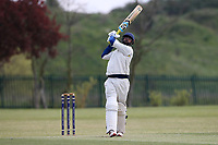 Six runs for Rainham during Rainham CC (batting) vs South Woodford CC, Hamro Foundation Essex League Cricket at Spring Farm Park on 1st May 2021