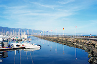 Santa Barbara Harbor and Breakwater, Santa Barbara, California, USA