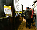 Admission prices at the turnstile. Hucknall Town v Heanor Town, 17th October 2020, at the Watnall Road Ground, East Midlands Counties League. Photo by Paul Thompson.