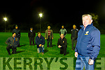 Pat Moynihan and the Field Facilities committee with the new floodlights at Legion GAA club front l-r: Eamon Maguire, Michael Lucey, John Culloty, Back row Johnny Culloty Donal Hegarty, John Hegarty, mark O'Leary, and Pat Healy