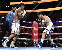 LAS VEGAS, NV - AUG 21: Mark Magsayo vs Julio Ceja on the Fox Sports PBC pay-per-view fight night at the T-Mobile Arena on August 21, 2021 in Las Vegas, Nevada (Photo by Scott Kirkland/Fox Sports/PictureGroup)