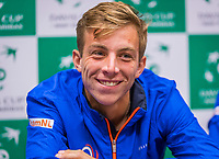 The Hague, The Netherlands, September 12, 2017,  Sportcampus , Davis Cup Netherlands - Chech Republic, Pre Draw press conference, Tallon Griekspoor (NED)<br /> Photo: Tennisimages/Henk Koster