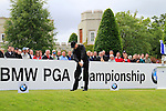 David Higgins (IRL) tees off on the 1st tee to start his round on Day 2 of the BMW PGA Championship Championship at, Wentworth Club, Surrey, England, 27th May 2011. (Photo Eoin Clarke/Golffile 2011)