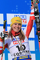 18th February 2021; Cortina d'Ampezzo, Italy;  FIS Alpine World Ski Championships 2021 Cortina  Women's Giant Slalom, Katharina Liensberger (AUT)