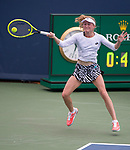 August 14,2019:   Aliasandra Sasnovich (BLR) loses to Naomi Osaka (JPN) 7-6, 2-6, 6-2, at the Western & Southern Open being played at Lindner Family Tennis Center in Mason, Ohio.  ©Leslie Billman/Tennisclix/CSM
