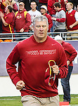 Iowa State Cyclones head coach, Paul Rhoads, in action during the game between the Iowa State Cyclones and the TCU Horned Frogs  at the Amon G. Carter Stadium in Fort Worth, Texas. Iowa State defeats TCU 37 to 23..