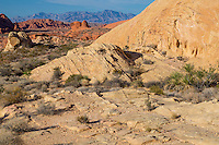 Valley of Fire, Nevada.  Scenic View along White Domes Trail.