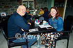 Enjoying the outdoor dining at the Horseshoe Bar in Listowel on Sunday, l to r: John and Mary Clifford.