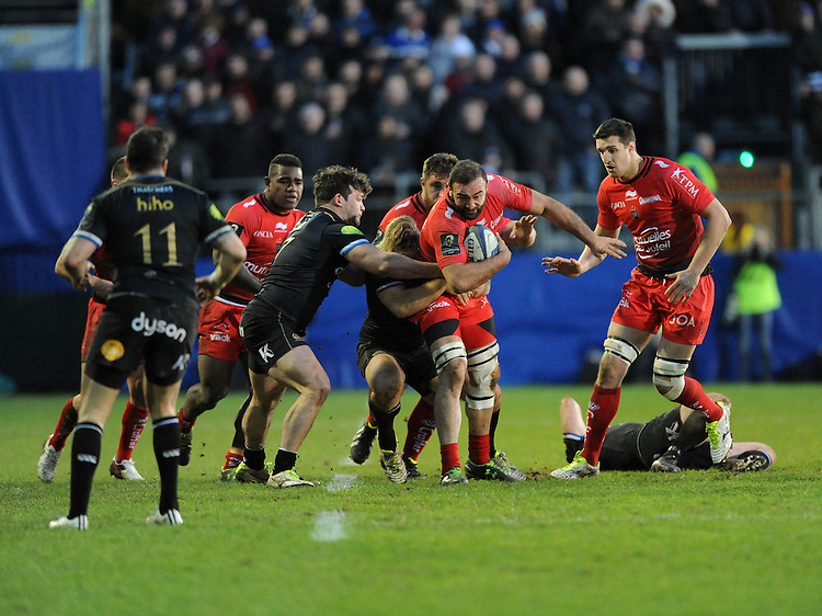 Mamuka Gorgodze of RC Toulon charges upfield during the European Rugby Champions Cup match between Bath Rugby and RC Toulon - 23/01/2016 - The Recreation Ground, Bath Mandatory Credit: Rob Munro/Stewart Communications