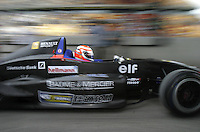 A F Renault race car speeds out of pit lane at the Shanghai International Circuit (SIC) in Shanghai, China. The SIC officially opened today with a series of races including the F Renault Asia Championship and China Circuit Championship. The circuit will host the country's first F1 race this year on September 26th. .